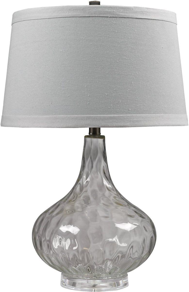 1-Light 3-Way Table Lamp Clear
