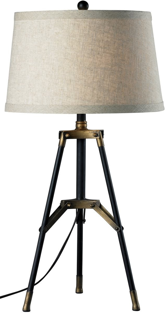 1-Light 3-Way Table Lamp Restoration Black/Aged Gold