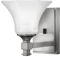 "7""w Abbie 1-Light Bath Vanity Brushed Nickel"