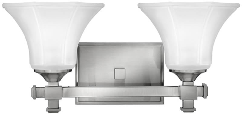 "16""w Abbie 2-Light Bath Vanity Brushed Nickel"