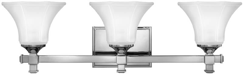"25""w Abbie 3-Light Bath Vanity Chrome"