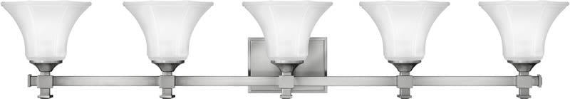 "44""w Abbie 5-Light Bath Vanity Brushed Nickel"