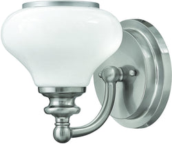 Hinkley Ainsley 1-Light Outdoor Wall Light Brushed Nickel 56550BN