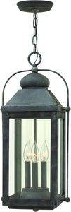 Hinkley Anchorage 3-Light Outdoor Pendant Light Aged Zinc 1852DZ