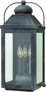 Hinkley Anchorage 3-Light Outdoor Wall Light Aged Zinc 1855DZ