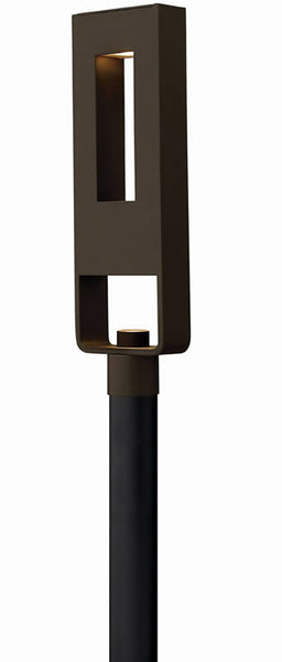 "24""h Atlantis 2-Light LED Outdoor Post Mount Bronze"