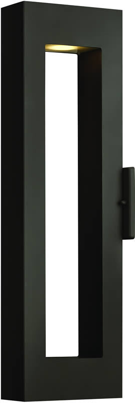 "24""h Atlantis 2-Light LED Outdoor Wall Mount Satin Black"
