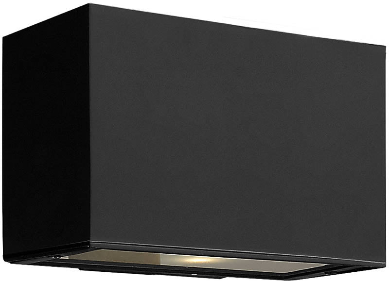 "5""h Atlantis 1-Light Outdoor Wall Mount Satin Black"