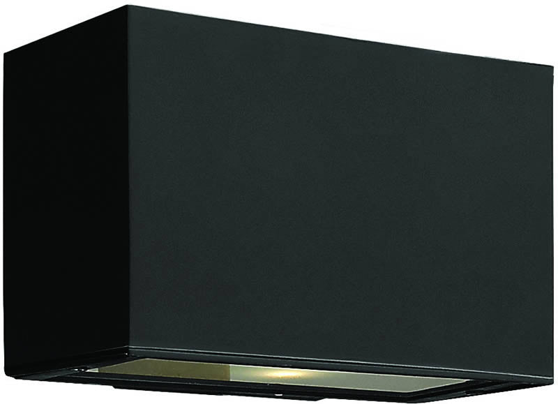 "5""h Atlantis 2-Light LED Outdoor Wall Mount Satin Black"