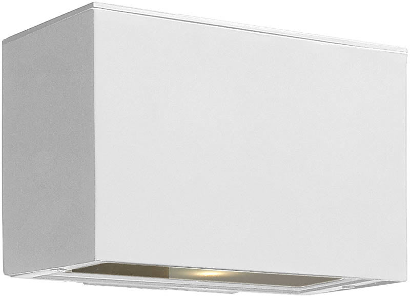 "5""h Atlantis 1-Light Outdoor Wall Mount Satin White"