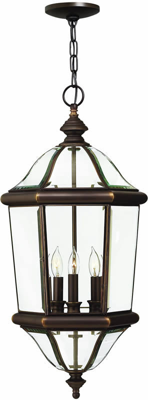 "13""w Augusta 3-Light Outdoor Pendant Copper Bronze"