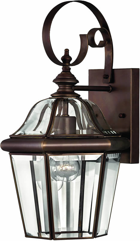 "16""h Augusta 1-Light Outdoor Wall Lantern Copper Bronze"