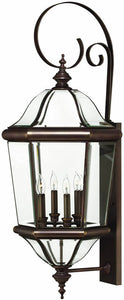 Hinkley Augusta 4-Light Extra-Large Outdoor Wall Lantern Copper Bronze 2456CB