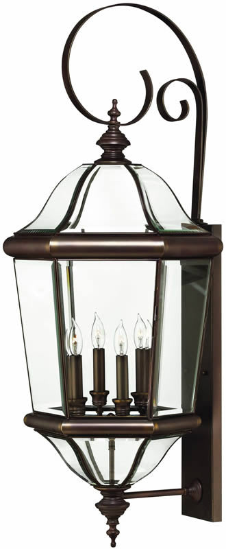 hinkley augusta extra large outdoor wall lantern 2456cb lampsusa