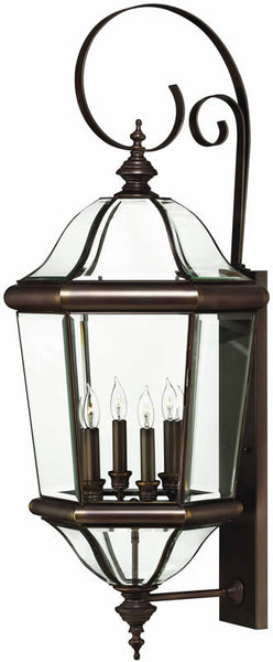 "39""h Augusta 4-Light Extra-Large Outdoor Wall Lantern Copper Bronze"