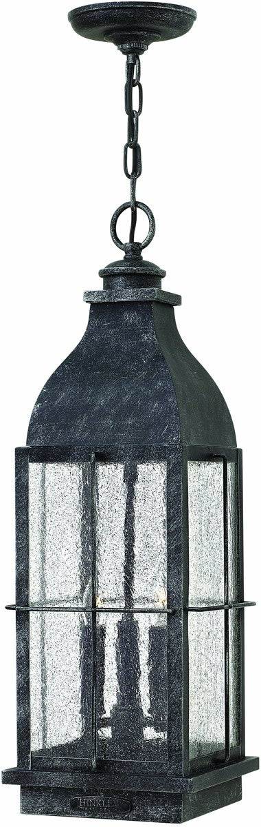 Bingham 3-Light Outdoor Pendant Greystone