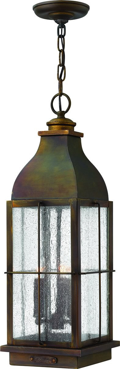 "8""w Bingham 3-Light Outdoor Pendant Sienna"