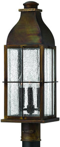 "24""h Bingham 3-Light Outdoor Post Lantern Sienna"