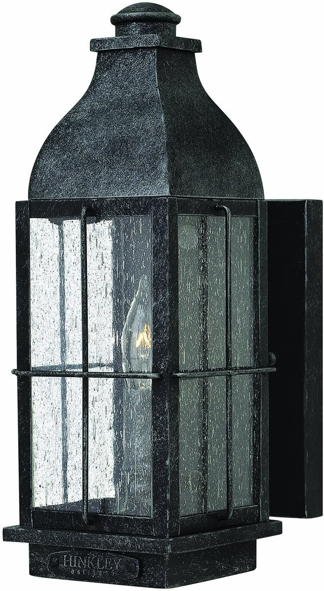 Bingham 1-Light Outdoor Wall Light Greystone