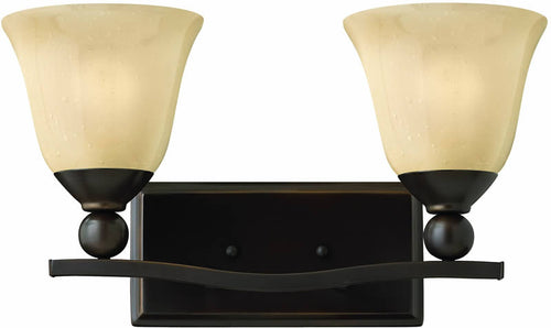 "16""w Bolla 2-Light Bath Vanity Olde Bronze"