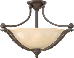 "23""W Bolla 3-Light Chandelier Old Bronze"