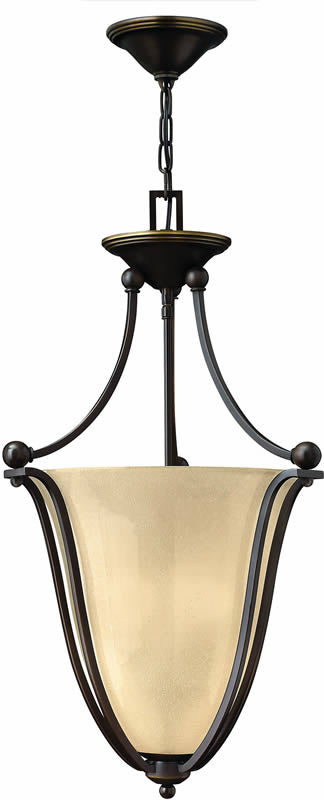 "16""w Bolla 3-Light Foyer Pendant Olde Bronze"