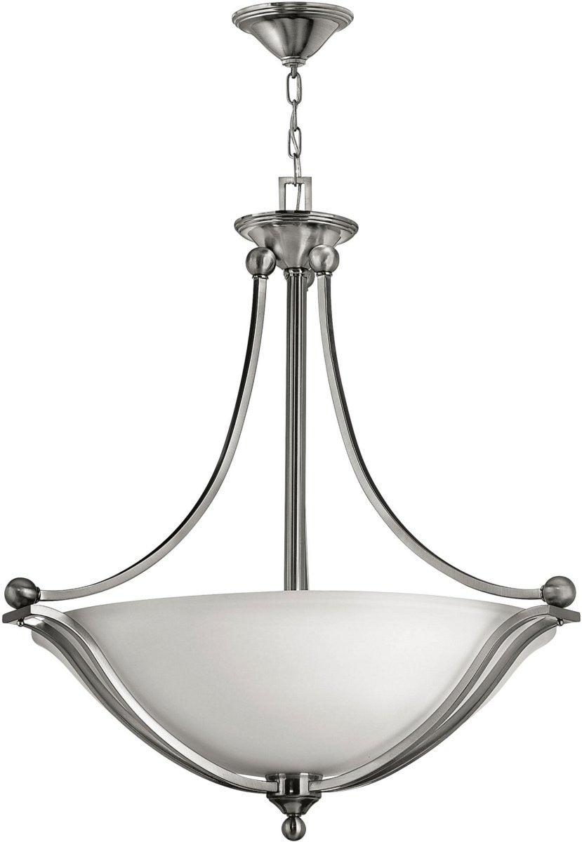 Bolla 3-Light LED Foyer Pendant Brushed Nickel