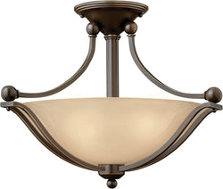 Bolla 2-Light LED Semi-Flush Foyer Light Olde Bronze