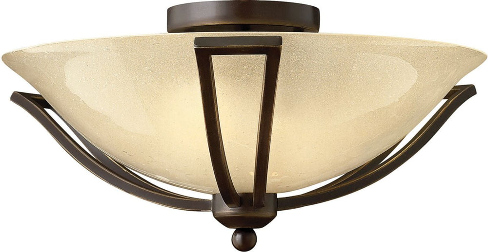 Bolla 2-Light LED Bath Semi-Flush Olde Bronze