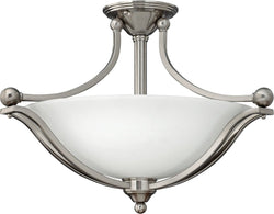 Bolla 3-Light LED Semi-Flush Foyer Light Brushed Nickel