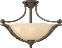 Bolla 3-Light LED Semi-Flush Foyer Light Olde Bronze