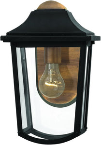 Burton 1-Light Outdoor Wall Light Black