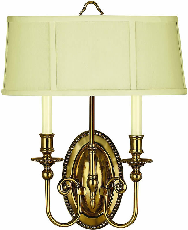 "15""w Cambridge 2-Light ADA Wall Sconce Burnished Brass"