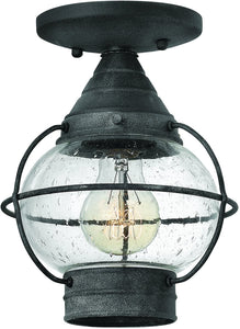 Hinkley Cape Cod 1-Light Outdoor Ceiling Light Aged Zinc 3497OZ