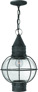 Hinkley Cape Cod 1-Light Outdoor Pendant Light Aged Zinc 2202DZ