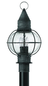 Hinkley Cape Cod 3-Light Outdoor Post Light Aged Zinc 2207DZ