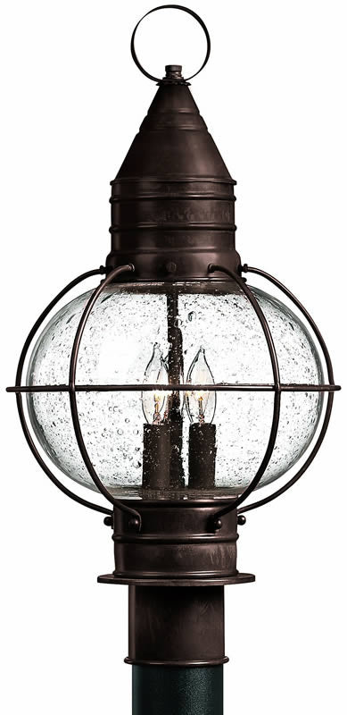 "21""H Cape Cod 3-Light Outdoor Post Lantern Sienna Bronze"