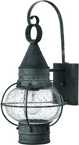 Cape Cod 1-Light Outdoor Wall Light Aged Zinc