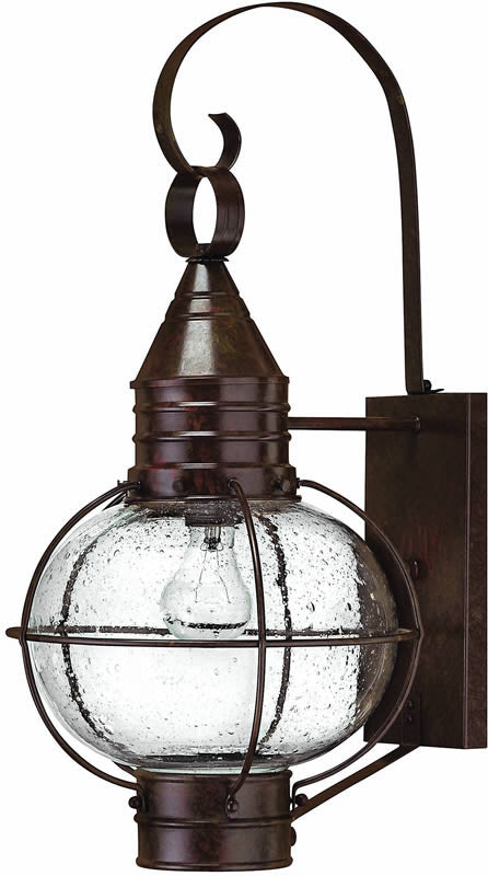 "23""h Cape Cod 1-Light Large Outdoor Wall Lantern Sienna Bronze"