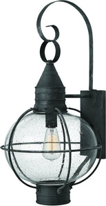 Hinkley Cape Cod 1-Light Outdoor Wall Light Aged Zinc 2205DZ