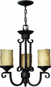 "17""w Casa 3-Light Chandelier Olde Black"