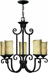 "25""w Casa 5-Light Chandelier Olde Black"