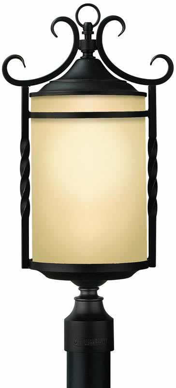 "24""h Casa 3-Light Outdoor Post Lantern Olde Black"