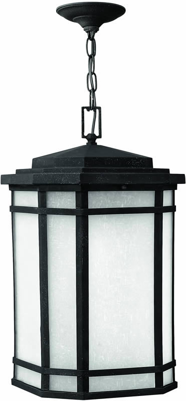 "12""w Cherry Creek 1-Light Outdoor Pendant Vintage Black"