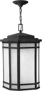 "12""w Cherry Creek 1-Light LED Outdoor Hanging Lantern Vintage Black"