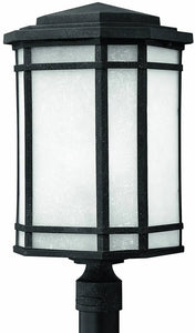 "22""h Cherry Creek 1-Light Large Outdoor Post Lantern Vintage Black"