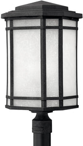 Hinkley Cherry Creek 1-Light LED Post Outdoor Vintage Black 1271VKLED