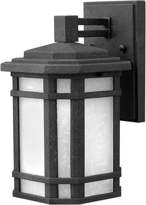 Hinkley Cherry Creek 1-Light LED Outdoor Wall Mount Vintage Black 1270VKLED
