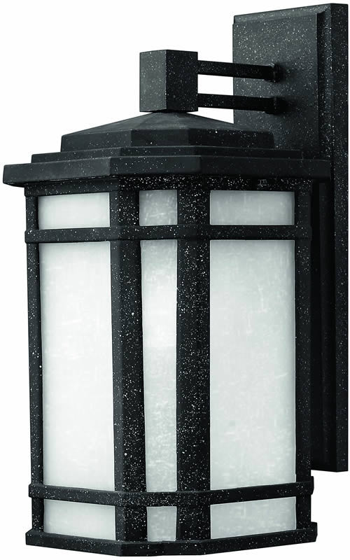 "15""h Cherry Creek 1-Light Outdoor Wall Lantern Vintage Black"