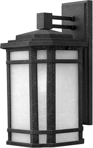 Hinkley Cherry Creek 1-Light LED Outdoor Wall Mount Vintage Black 1274VKLED